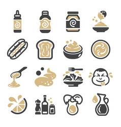 mayonnaise icon set vector image