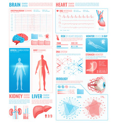 medical interface elements vector image