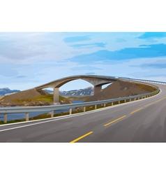 Modern bridge vector