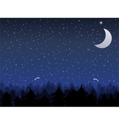 night vector image