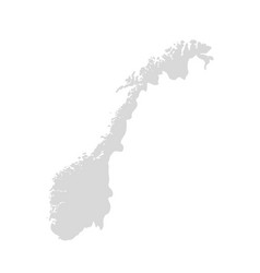 norway map contour country norwegian map vector image