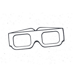 outline paper 3d glasses front view vector image