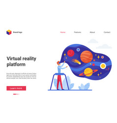 people in virtual reality vector image