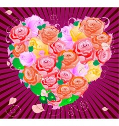 pink valentine vector image