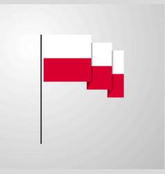 Poland waving flag creative background vector