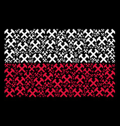 polish flag pattern of hammers icons vector image