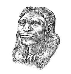 primitive people prehistoric period ancient vector image