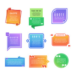 quote boxes paragraph marks comments shapes vector image