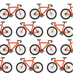 racing bicycle pattern background vector image