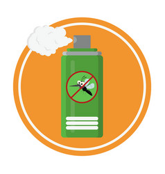 repellent spray in green bottle protection vector image
