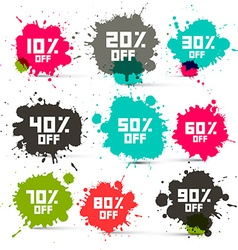 Retro Transparent Colorful Discount Sale Splashes vector image