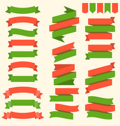 ribbons and flags in christmas theme vector image