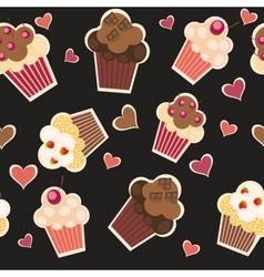 seamless cake pattern vector image