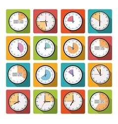 Set clock with the timer vector image