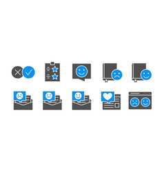 set consumers feedback colored icons like vector image