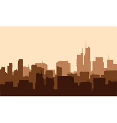 Silhouette of advanced city vector