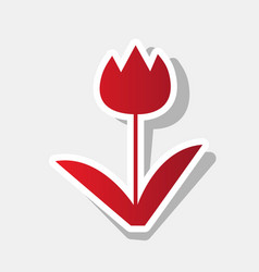 Tulip sign new year reddish icon with vector