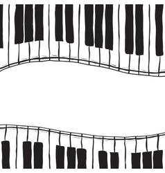 Two piano keys - sketch style vector