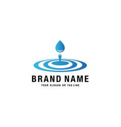 Water drop design logo vector