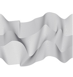 wavy 3d lines abstract seamless pattern vector image