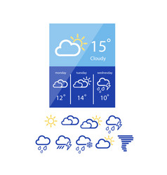 weather widget in flat style vector image