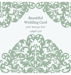 Wedding Invitation card Imperial style vector