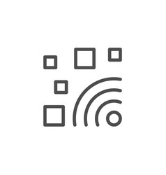 wi-fi zone line outline icon vector image