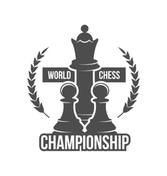 chess label badge and design element vector image vector image