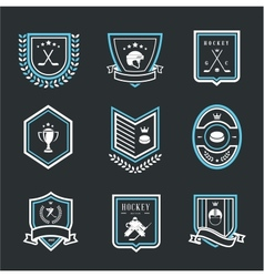 hockey sport icons vector image vector image