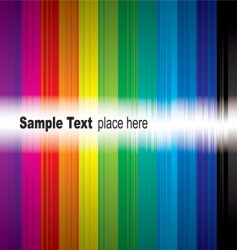 rainbow sample vector image vector image