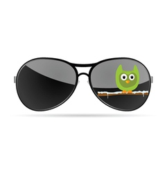 sunglasses with funny animal color vector image vector image