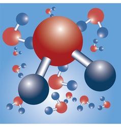 water formula vector image