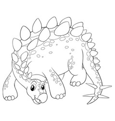 animal outline for cute dinosaur vector image vector image