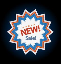 New sticker sale discount symbol vector