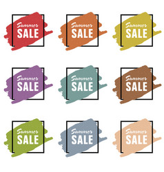 summer sale icon design set vector image vector image
