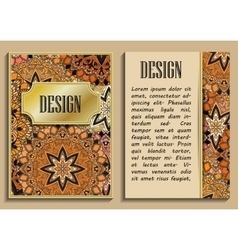 Vintage greeting card with floral motifs in vector image vector image