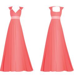 pink women elegant dress vector image vector image