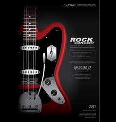 rock concert poster background template vector image vector image