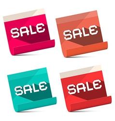 Sale Titles on Notebook Bent Paper Sheets Set - vector image vector image