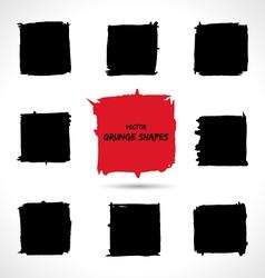 Set of grunge shapes vector image vector image