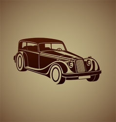 Sport classic automobile vector image
