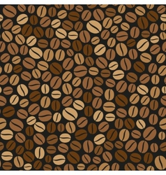 Coffee Beans Seamless Pattern on Dark Background vector image vector image