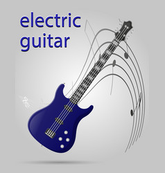 electric guitar musical instruments stock vector image vector image