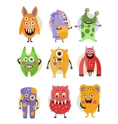 Funny Emotional Cartoon Monsters vector image vector image