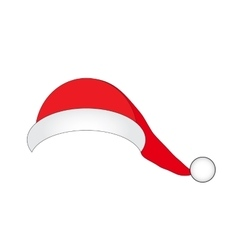 Hat of Santa Claus on a white background vector image vector image