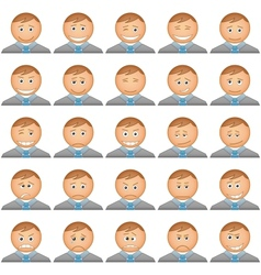 Office smilies icons set vector image vector image