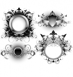 ornate shields vector image vector image