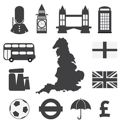 Set of England Symbol Icons vector image