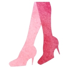 Woman legs silhouette Watercolor in vector image vector image