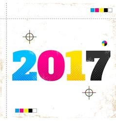 2017 cmyk vector image